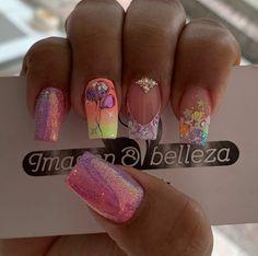 Gorgeous Nails, Pretty Nails, Hello Nails, Super Cute Nails, Neon Nails, Short Nails, Manicure, Nail Designs, Nail Art