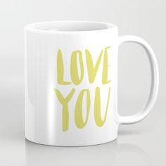 love you - green lettering Mug