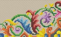 Items similar to Antique Tapestry Ornament Stylized Flowers Motif Pointed Oval Shape Lens Shape Multicolor Counted Cross Stitch Pattern PDF on Etsy Cross Stitch Samplers, Cross Stitch Patterns, Cross Stitch Boards, Pixel Pattern, Bead Loom Bracelets, Dmc Floss, Floral Rug, Beading Projects, Cute Crochet