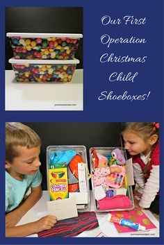 Our family's first experience filling Operation Christmas shoeboxes. Describes where we shopped and what items we used to fill the shoeboxes. via @pursueproject