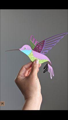 Diy Paper, Paper Crafts, Hanging Mobile, Woodland Nursery, Hummingbird, Diy Gifts, Arts And Crafts, Cricut, Cool Stuff
