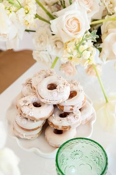 Stunning floral decorated donuts.