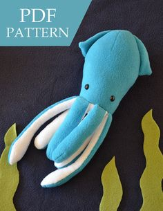 Squid Plush Pattern van catzhu op Etsy