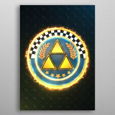 Triforce Cup Emblem poster by from collection. By buying 1 Displate, you plant 1 tree. Wall Art Prints, Poster Prints, Canvas Prints, Homemade 3d Printer, Print Artist, Cool Artwork, 3d Printing, Canvas Art, Sculpture