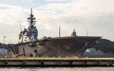 Descargar fondos de pantalla porta-helicópteros, JS Izumo, DDH-183, barcos de guerra Japoneses, de la Marina de Japón, el plomo de la nave, Izumo clase