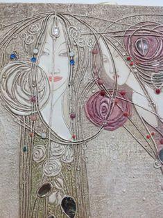 I'd love to do this as a silk painting…. Ik zou dit graag als zijdeschildering doen … Glasgow School Of Art, Glasgow Girls, Mackintosh Design, Sewing Room Decor, Charles Rennie Mackintosh, Art Nouveau Architecture, Art Nouveau Design, Art Nouveau Jewelry, Art Abstrait
