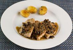 Pork Scallopine with Marsala-Porcini Sauce