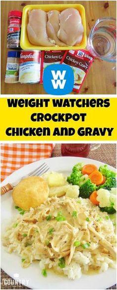 Weight+watchers+Crockpot+Chicken+and+Gravy