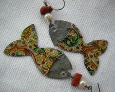 Fish tales earrings from pipnmolly on etsy