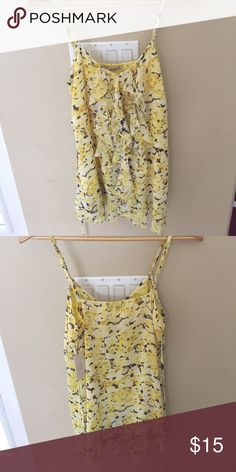 NWT forever 21 sun dress Flowie flowered yellow dress. Side straps to tie in the back and accentuate your waist. Can be worn as a tunic. NWT Forever 21 Dresses Mini
