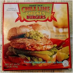 Trader Joe's Chile Lime Chicken Burgers  $3.49  454g