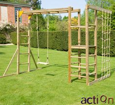 garten spielplatz Monkey Bars without Slide Backyard Jungle Gym, Backyard Swing Sets, Backyard For Kids, Backyard Projects, Outdoor Projects, Outdoor Jungle Gym, Kids Outdoor Play, Kids Play Area, Outdoor Fun