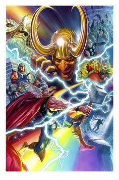 "spaceshiprocket: "" Thor by Alex Ross """