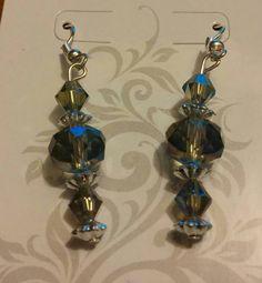 Grey Smokey beads with  metallic accents