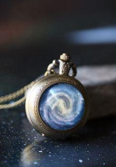 Nebula pocket watch pendant
