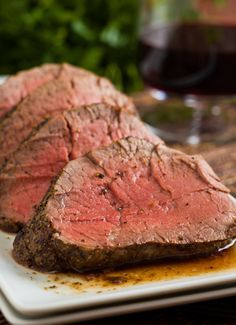 Tenderloin of Beef with Cognac Dijon Cream Sauce...1 pound tenderloin of beef, preferably center cut, trimmed of all silverskin, close to room temperature Kosher or sea salt Freshly ground black pepper Granulated garlic (optional, I use Penzeys) Olive oil, about 1 tablespoon