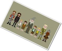 Pixel People - The Fellowship of the Ring - PDF Cross Stitch Pattern - INSTANT DOWNLOAD