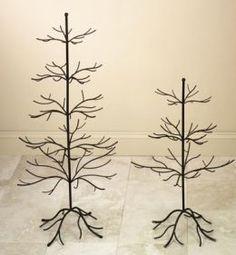 Wrought-iron display tree.