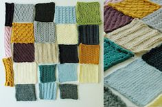 Swatch blanket - love this idea, lord knows i have an ever growing collection of swatches