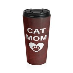 Excited to share the latest addition to my #etsy shop: BLACK FRIDAY Cat Mom Travel Mug/ Cat Mom Saying/ Cat Parent Mug/ Cat Travel Mug/ Cat Lady Thermos/ Popular Tall Mugs/ Cat Thermos http://etsy.me/2jAW3Wc