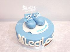 Sugar Kit Scarpine per Torta Battesimo | | Fate di Zucchero - Cake Designers