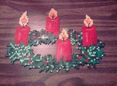 Christmas wreath hama perler beads by Katja B | Flickr