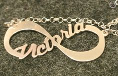 Infinity necklace #customized #jewellery #fashion #necklace #personalized