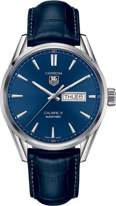 WAR201E.FC6292NEW TAG HEUER CARRERA AUTOMATIC DAY DATE MENS WATCH Usually ships within 3 months - Click to view AVAILABLE Luxury Watch Sales- FREE Overnight Shipping- No Sales Tax (Outside California)- With Manufacturer Serial Numbers- Blue Dial- Day