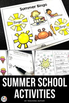 Are you looking for engaging activities to use during summer school with your kindergarten and special education students? If so, this pack is full of quick and easy to set up activities that your kids will love! Summer School Activities, Daily 5 Activities, End Of Year Activities, Classroom Activities, Teaching Resources, Classroom Ideas, Special Education Classroom, Autism Classroom, Math Education