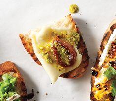 pickled fig robiola amp pistachio oil crostini recipe at epicurious ...