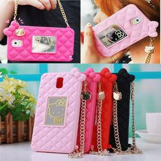 3D Bowknot Wrist Strap Hello Kitty Soft Case Cover for Samsung Galaxy Note 4/3 in Cell Phones & Accessories | eBay