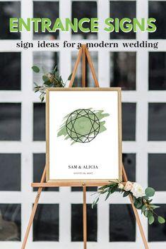 Modern Wedding Entrance Sign that Matches Your Wedding Engagement Ring Gemstone - nimivo sites Popular Wedding Colors, Wedding Unique, Diy Wedding, Wedding Ideas, Wedding Trends, Wedding Details, Dream Wedding, Wedding Inspiration, Entrance Sign
