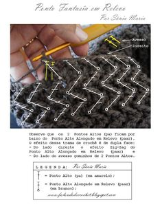 Crochet Zig-Zag -Stitch - Chart and Video Tutorial ❥ 4U // hf http://www.pinterest.com/hilariafina/