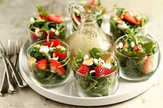 Individual salad appetizers for holiday parties
