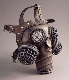 Ragnarok Gas Mask -- Steampunk Leather ~ Tom Banwell Designs *** Leather Masks & Steampunk