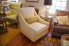 Eva chair with custom lumbar pillow
