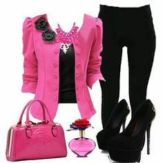 Image result for outfits turquoise and fiusha