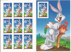 Looney Tunes Bugs Bunny SEALED USPS Limited Edition FD Comic Book Stamp