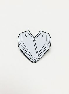 """<3  1.25""""+Wide+Soft+Enamel+Die+Cut+Lapel+Pin. Double+Studded+For+Stability 2+Rubber+Clutches. Comes+with+Two+Card+Backings+(One+Blank+to+Write+Something+Special/The+Other+is+Pre-Printed).+  Great+to+put+on+Denim+Vest/Jackets,+Tote+Bags...Hell,+Anywhere!"""
