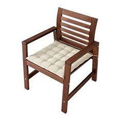 ÄPPLARÖ Chair with armrests, outdoor, brown stained brown - - - IKEA
