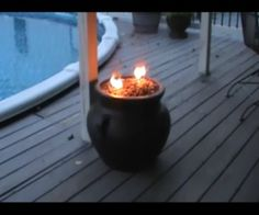 The Flower Pot Fire Pit: This is an easy, inexpensive and fun outdoor project! In this video we construct a Fire Pit using basic materials from the home/garden center. Fire Pit Uses, Easy Fire Pit, Small Fire Pit, Fire Pit Wall, Fire Pit Ring, Fire Pit Landscaping, Fire Pit Backyard, Backyard Seating, Barbacoa