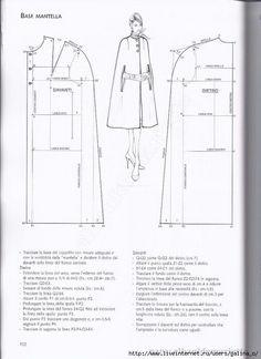 Dress Making Patterns, Coat Patterns, Sewing Patterns Free, Pattern Making, Clothing Patterns, Pattern Cutting, Bodice Pattern, Collar Pattern, Jacket Pattern