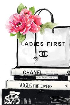 Ladies First Art Print by Studio One Chanel Wall Art, Chanel Decor, Canvas Art Prints, Canvas Wall Art, Chanel Poster, Chanel Print, Mode Poster, Chanel Wallpapers, Fashion Wall Art