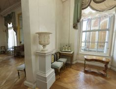 Grand Palais - Intérieur - Pavlovsk - Petit Bureau de Paul Ier dans la continuité de la Bibliothèque - Décoré par Vincenzo Brenna en 1790.