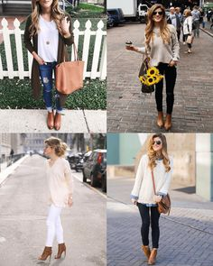 how to wear ankle boots, cute fall outfits with brown leather ankle booties, brown leather ankle boots outfits. Brown or camel ankle boots Brown Ankle Boots Outfit, How To Wear Ankle Boots, Brown Leather Ankle Boots, Ankle Boot Outfits, Ankle Boots Outfit Winter, Fall Shoes, Winter Boots Outfits, Casual Winter Outfits, Fall Outfits
