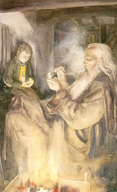 Alan Lee's Frodo and Gandalf.