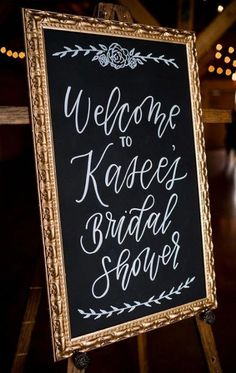 Chalkboard bridal shower welcome sign. A Rustic Barn Bridal Shower in Oklahoma Ultimate Bridesmaid Alex Dugan Photography Bridal Shower Welcome Sign, Bridal Shower Signs, Bridal Shower Rustic, Bridal Shower Party, Bridal Showers, Bridal Shower Chair, Bridal Shower Pictures, Bridal Parties, Baby Showers
