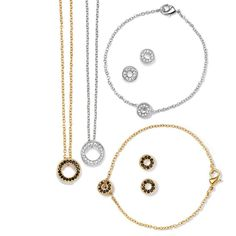 "Brilliant Prestige Collection:  A subtle hint of sparkle makes this collection the perfect finishing touch to any look.Necklace, 16 1/2"" L with 3 1/2"" extender. Bracelet, 7 1/2"" L with 1"" extender. Pierced studs."