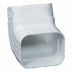 Amerimax 5-in Vinyl Front Elbow Traditional