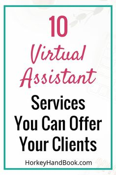 Want to become a VA, but you don't know where to start? Here's a list of 10 virtual assistant services that you can offer your clients.  via @ghorke